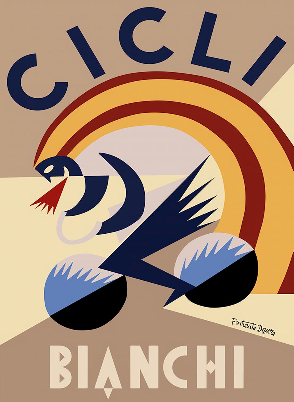 Cicli Bianchi Poster Prints by Fortunato Depero