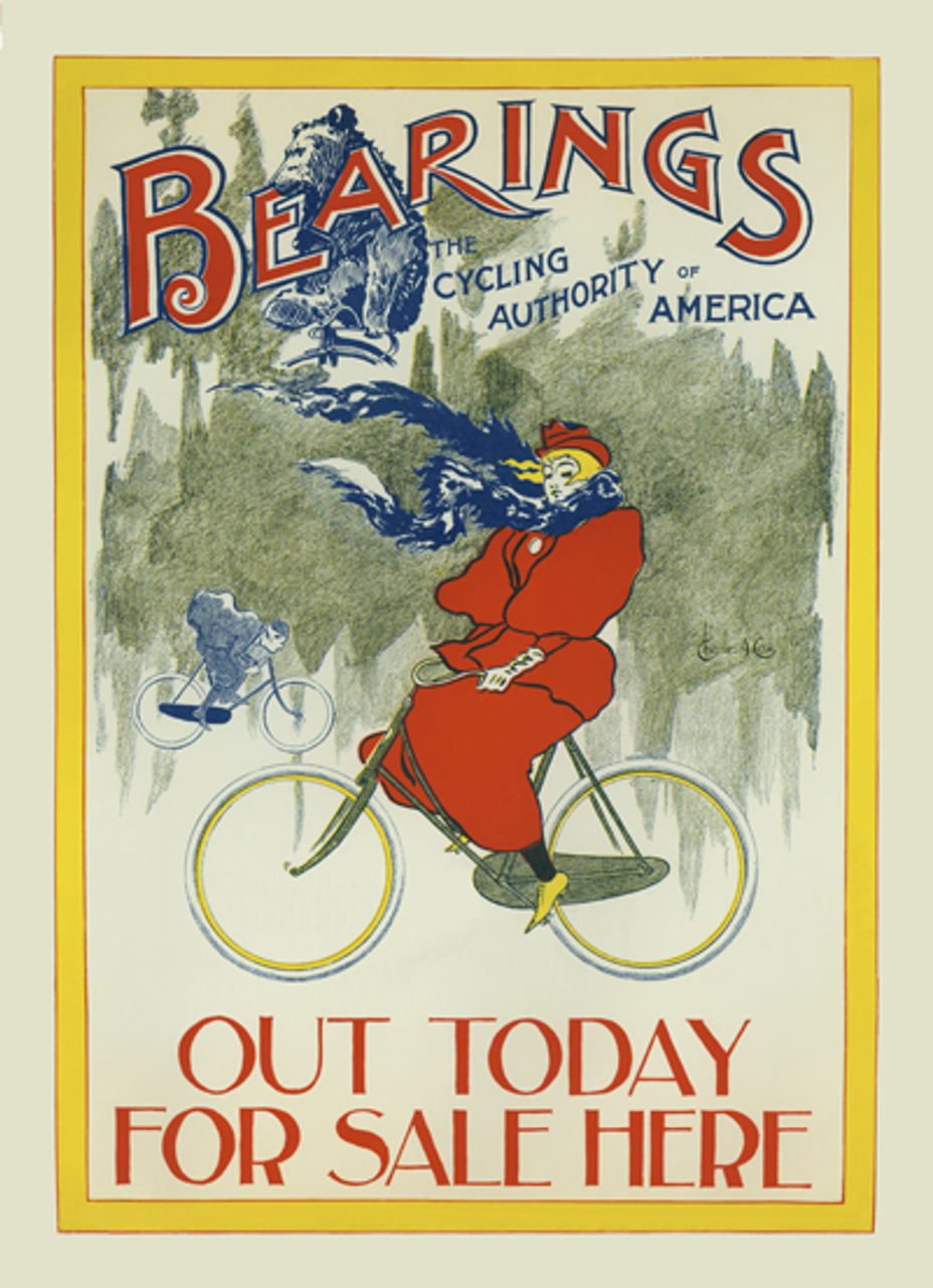 Bearings - Winter Riding Bicycle Poster