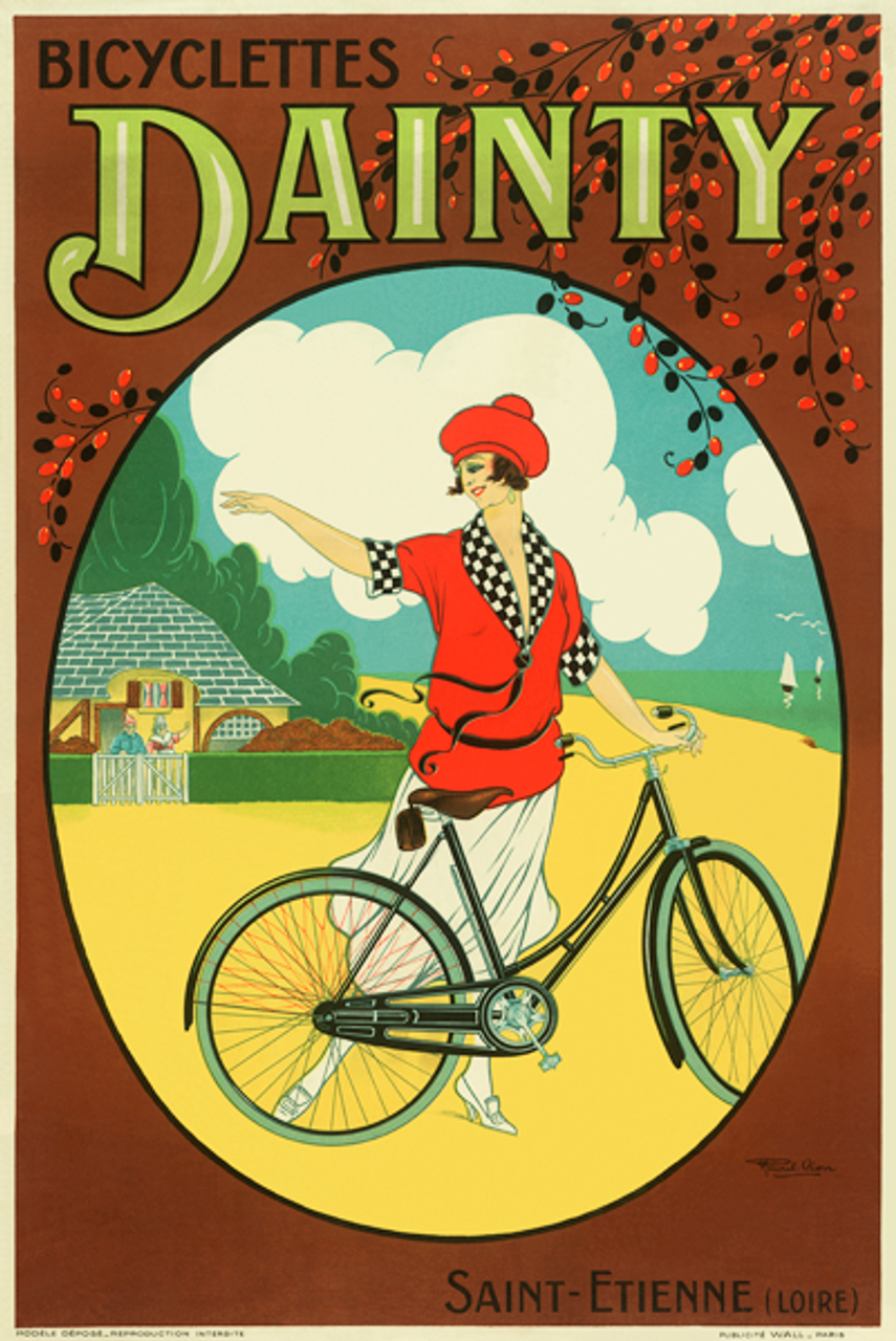 Bicyclettes Dainty Bicycle Poster