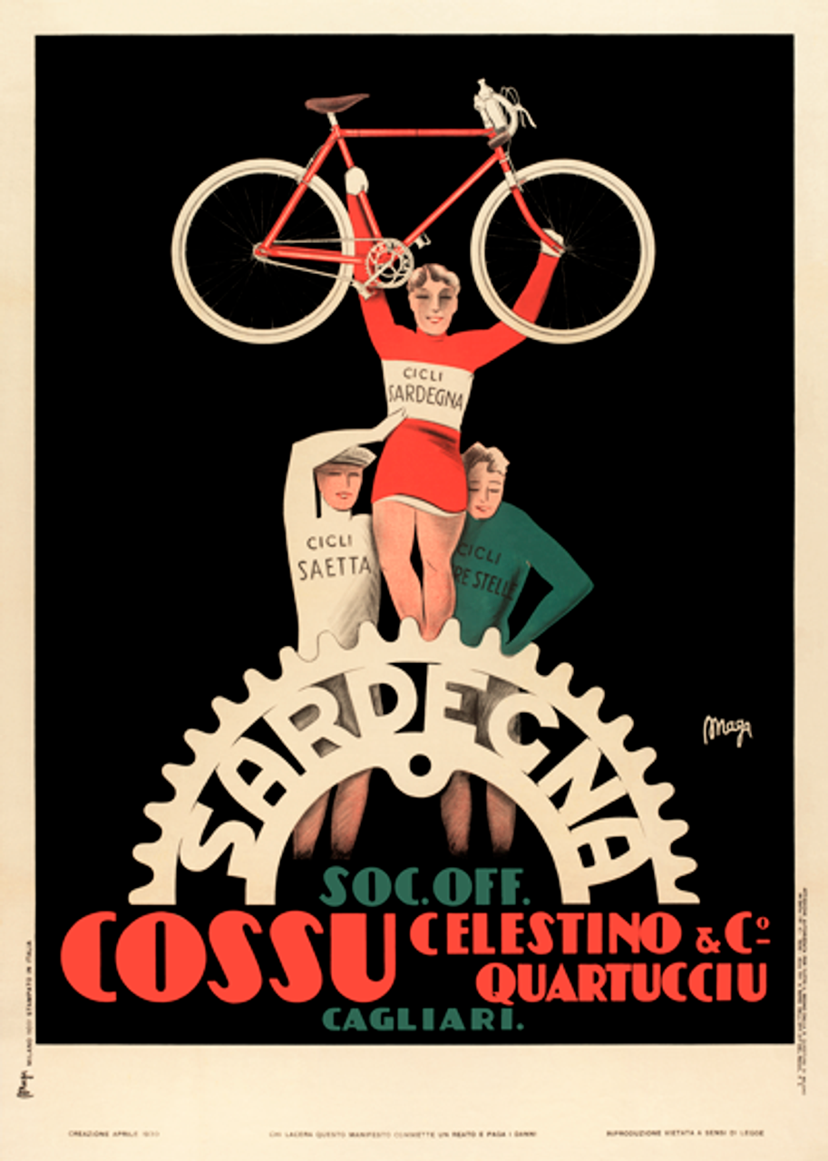 Sardegna Bicycle Poster