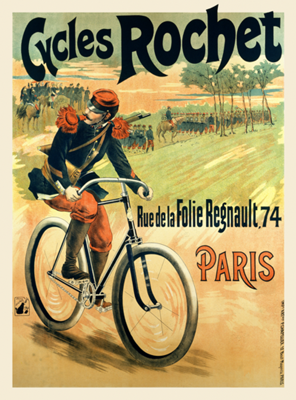 Cycles Rochet Soldier Bicycle Poster