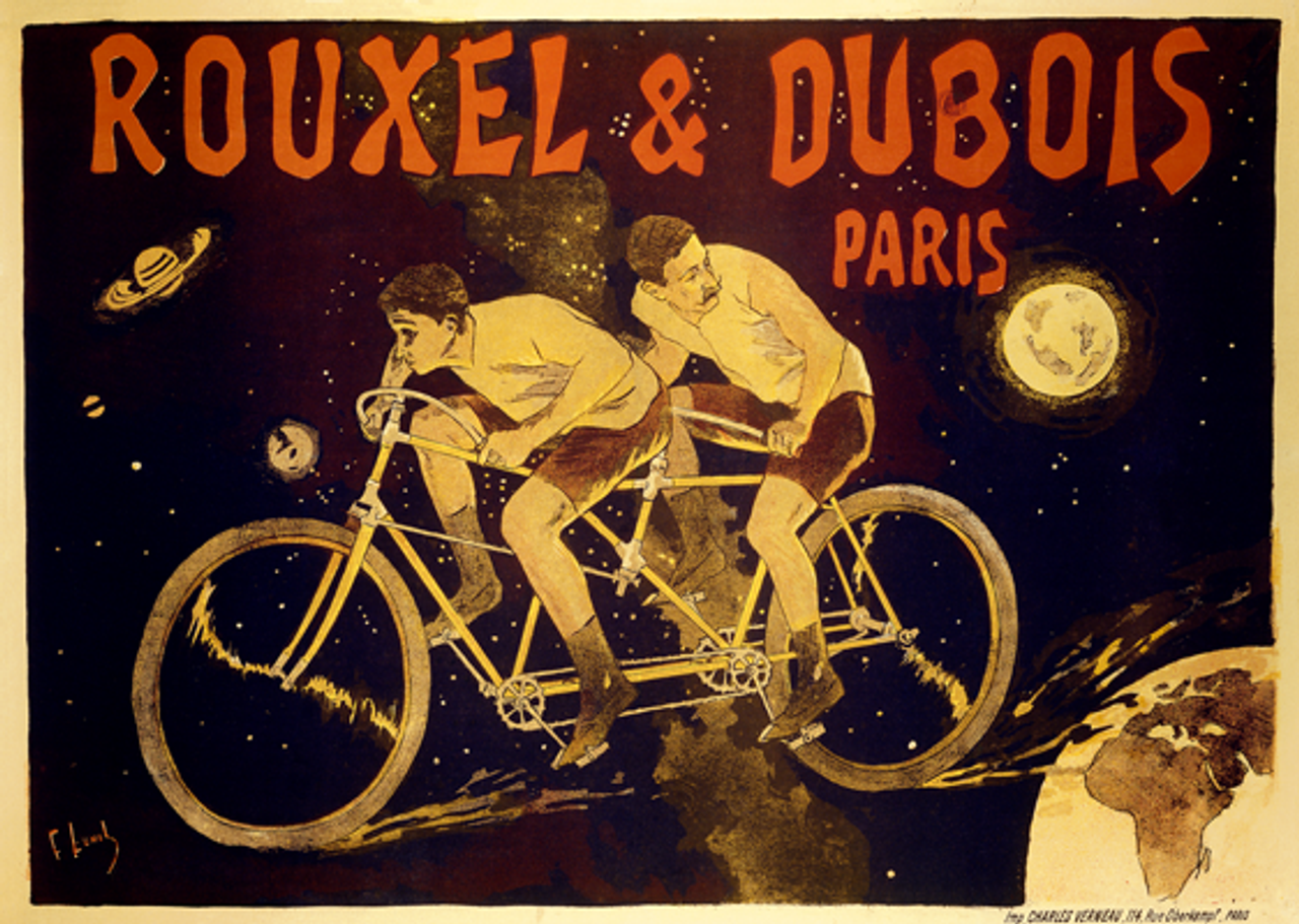 Rouxel & Dubois Tandem Bicycle Poster by Lunel