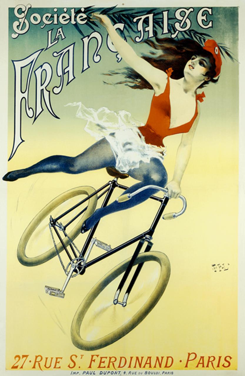 Societe La Francaise Bicycle Poster