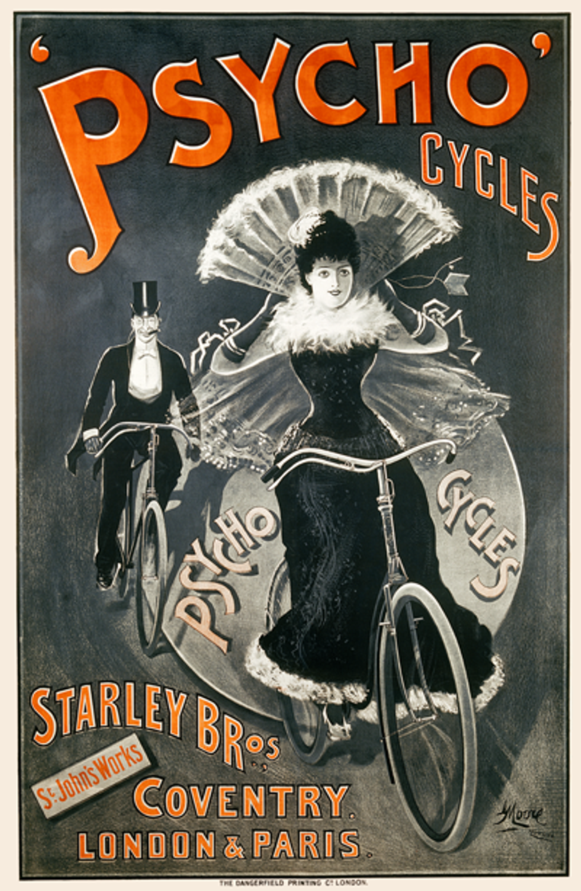 Psycho Cycles Bicycle Poster