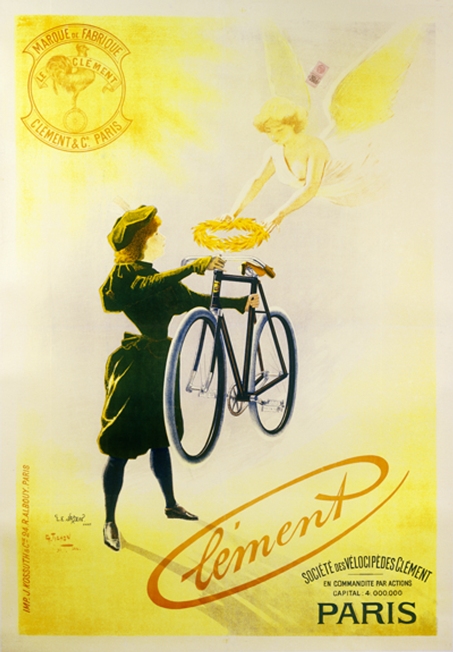Clement Paris Bicycle Poster