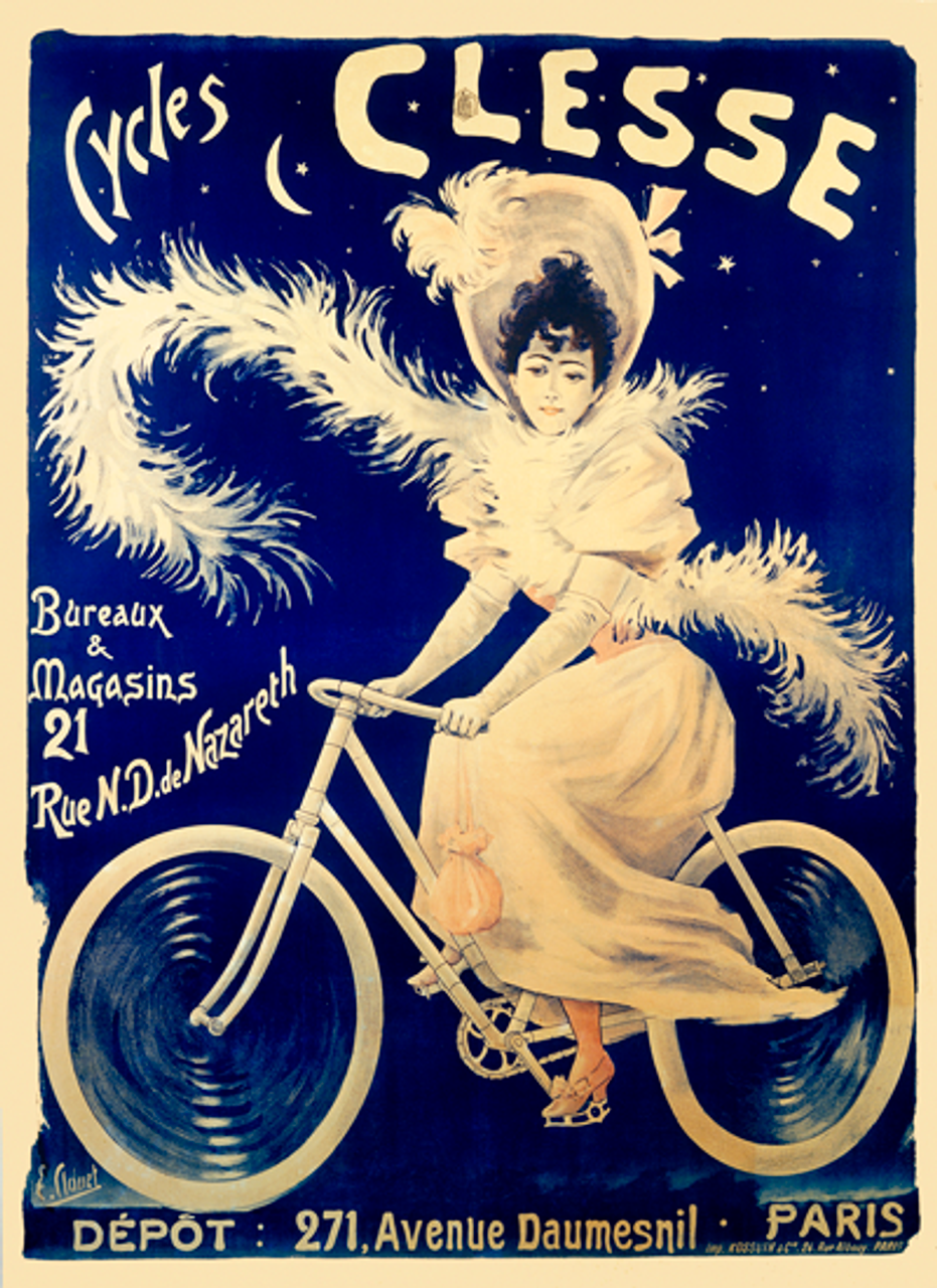 Cycles Clesse Bicycle Poster