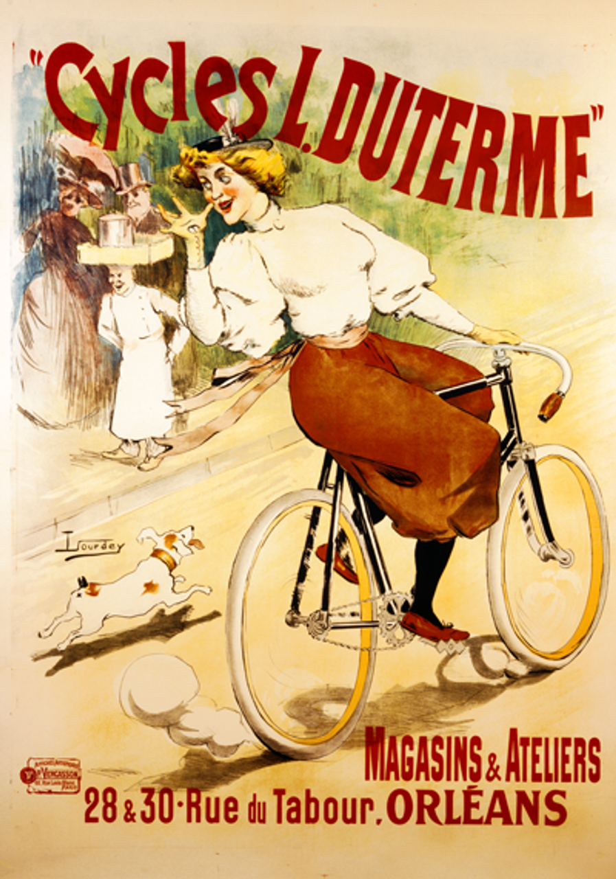 Cycles L. Duterme Bicycle Poster