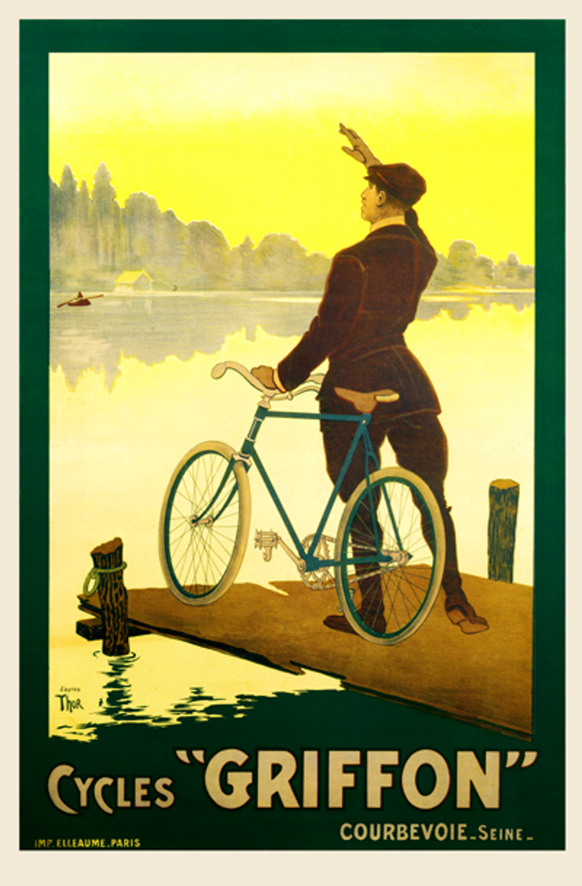 Cycles Griffon Bicycle Poster