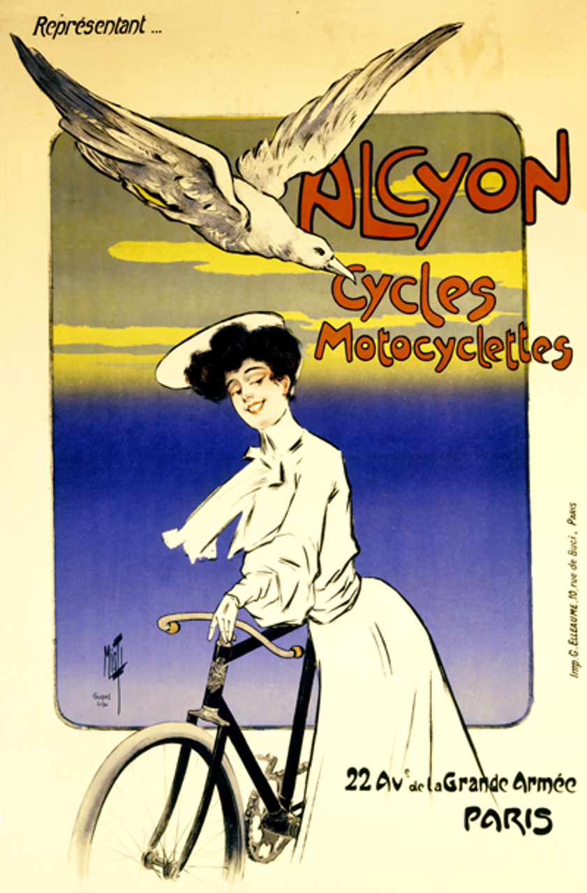Alcyon Cycles Motocyclettes Bicycle Poster