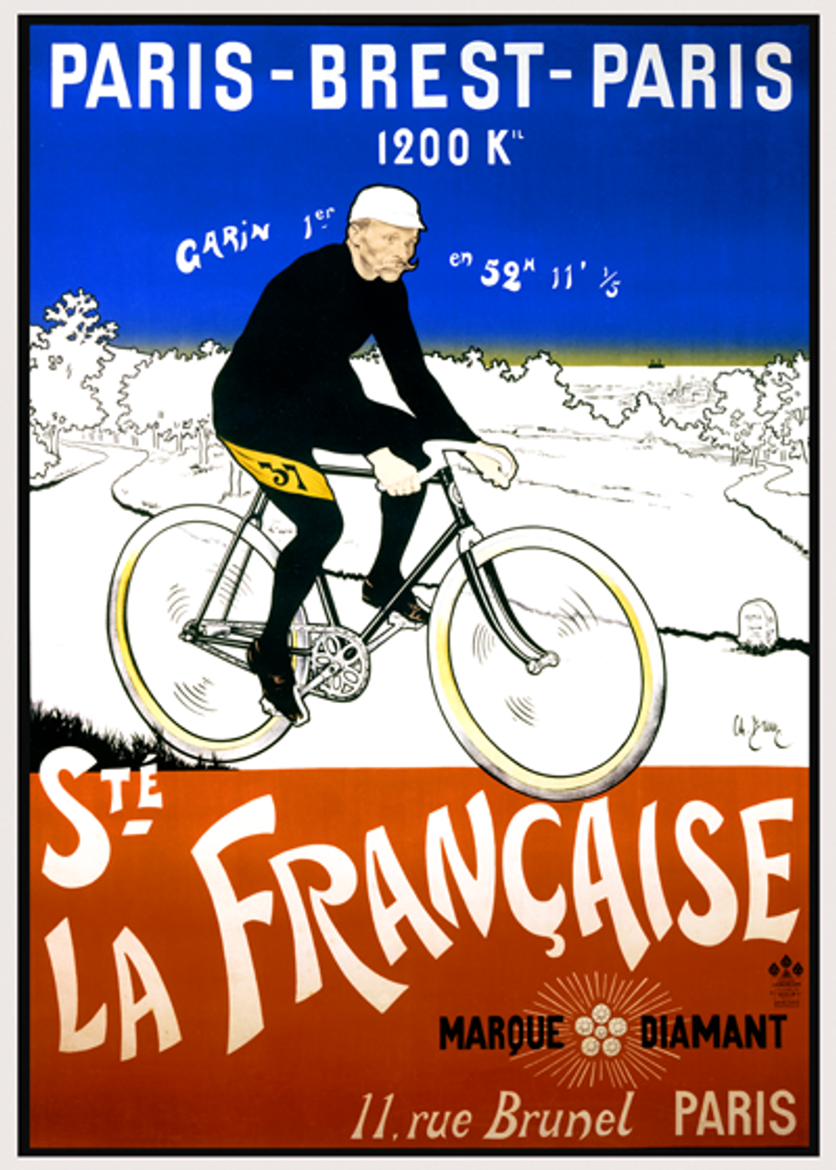 Paris-Brest-Paris Bicycle Poster