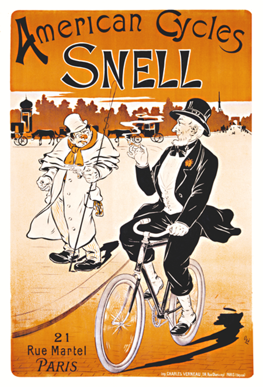 American Cycles Snell Bicycle Poster