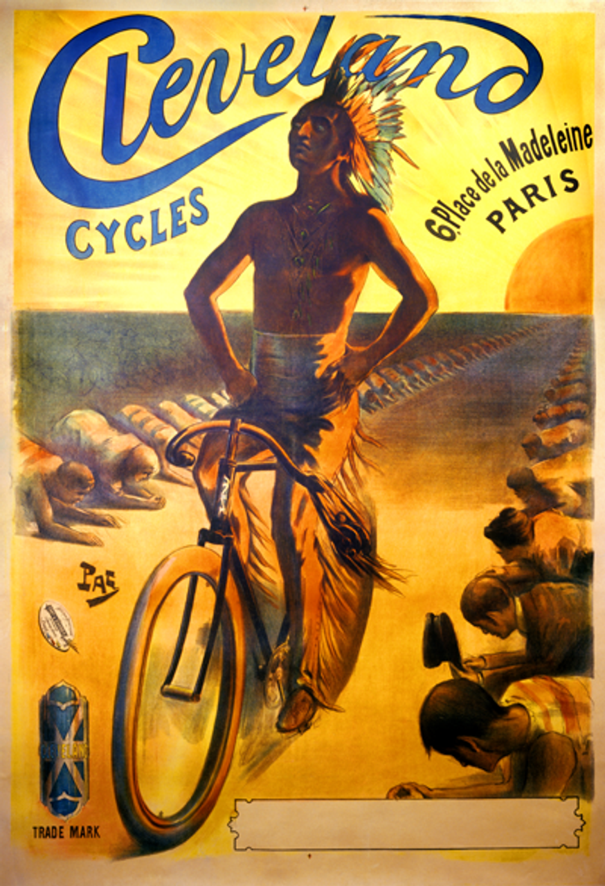 Cycles Cleveland Bicycle Poster