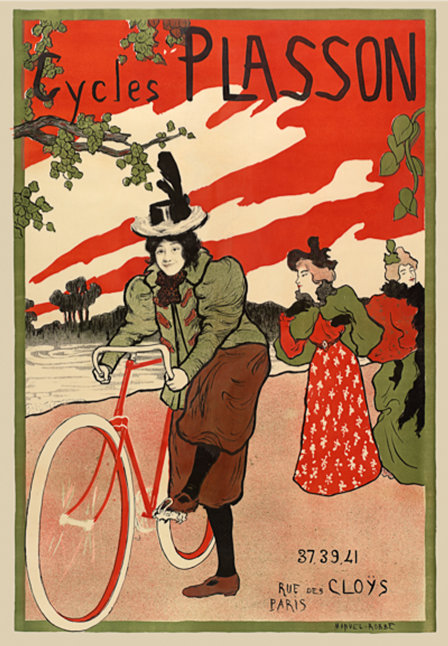 Cycles Plasson Bicycle Poster