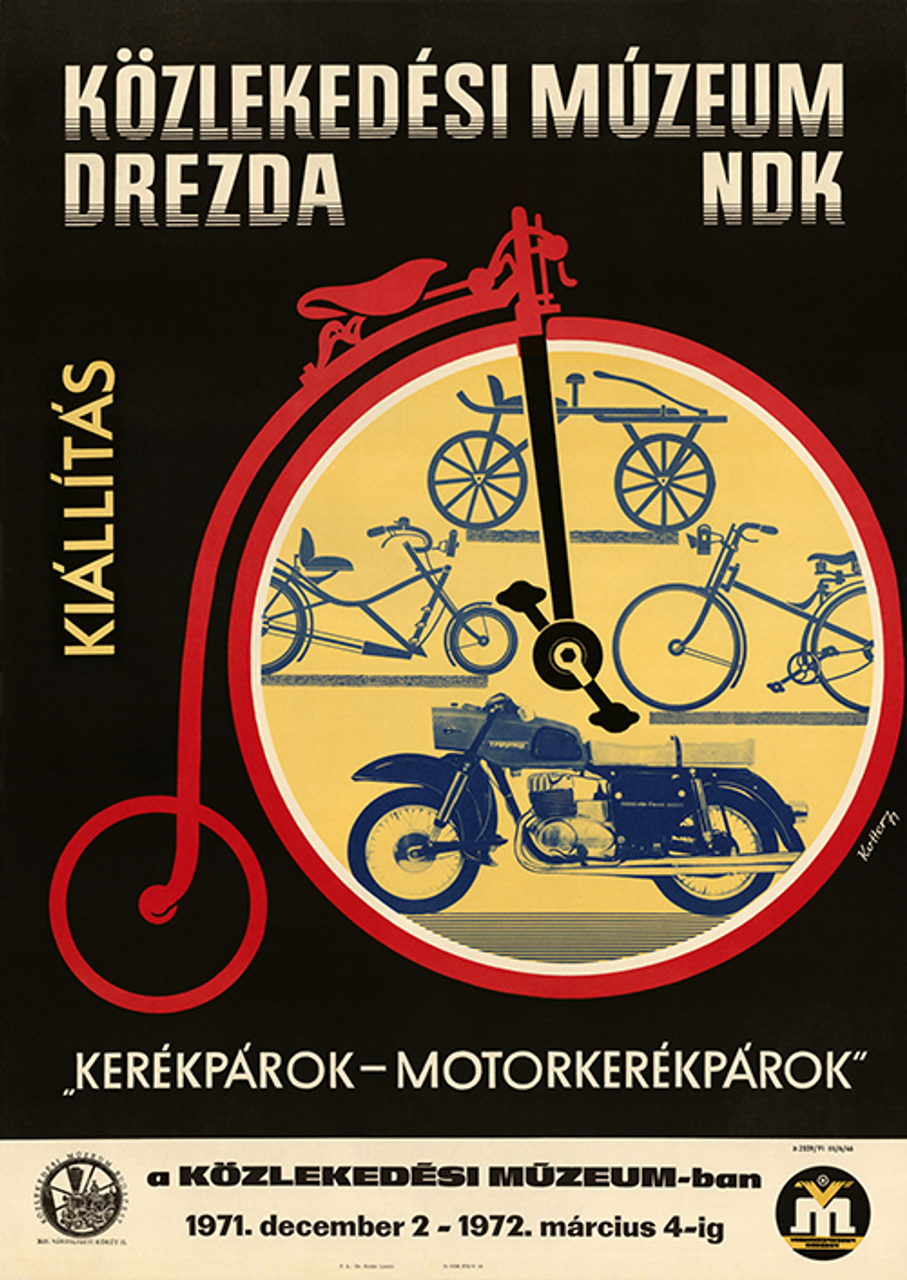 Cycles-Motos Exhibition Bicycle Poster