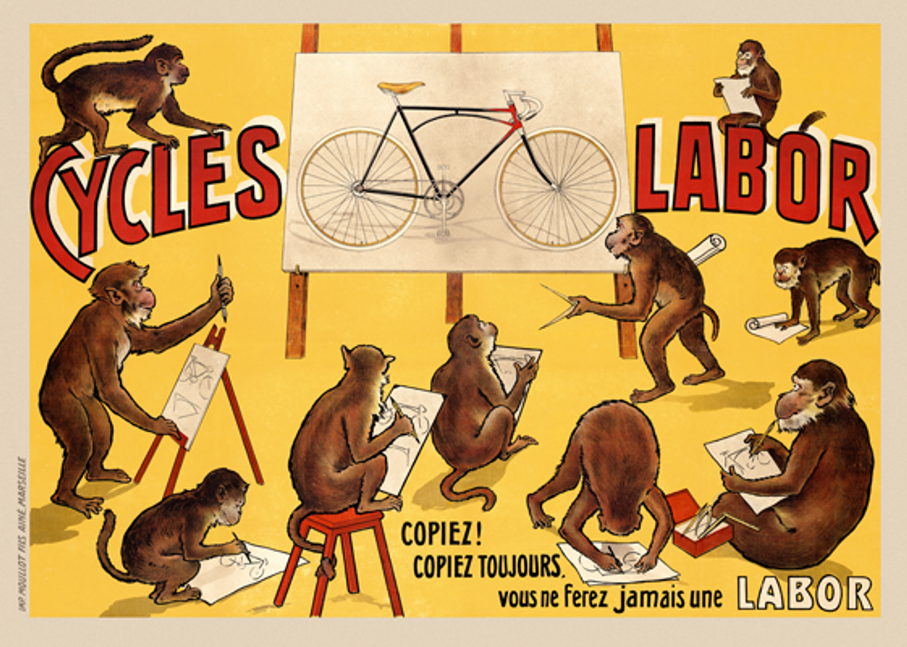 Cycles Labor Vintage Bicycle Poster