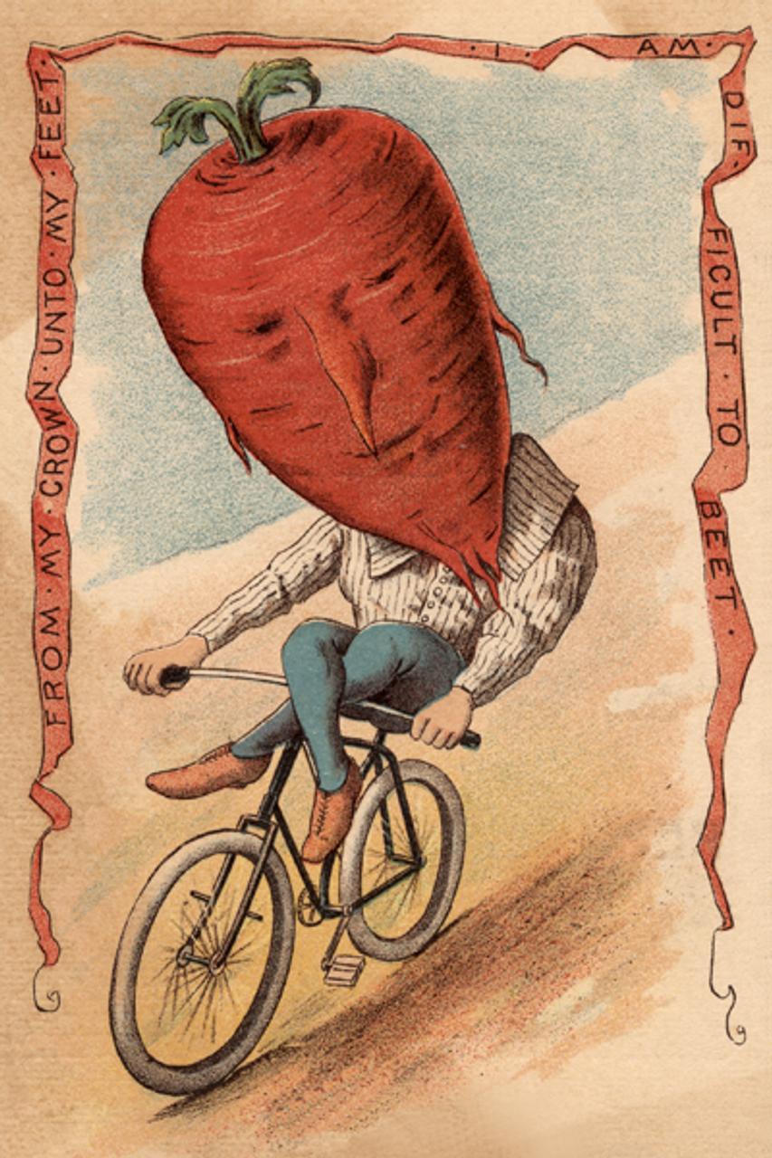 Beet Vegetable Rider Bicycle Poster
