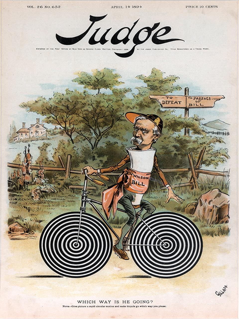 Judge Magazine April 14, 1894 Bicycle Poster