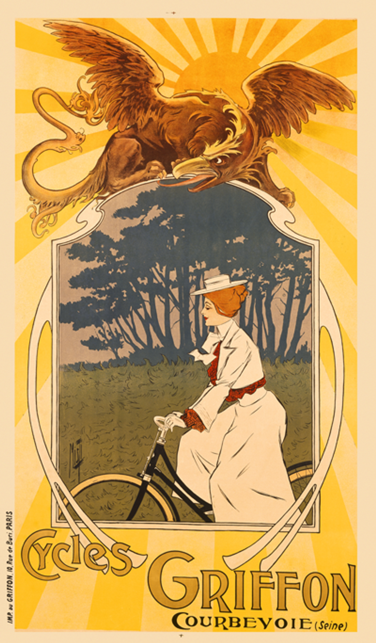 Cycles Griffon Bicycle Poster by Misti