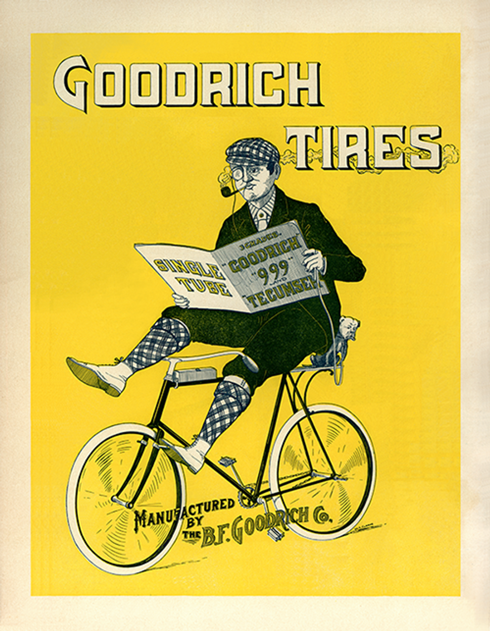 Goodrich Tires Bicycle Poster