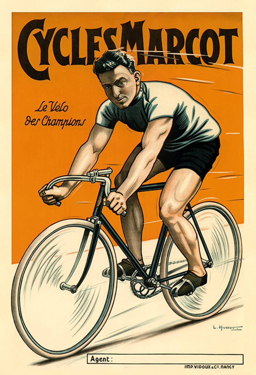 Cycles Marcot Bicycle Poster