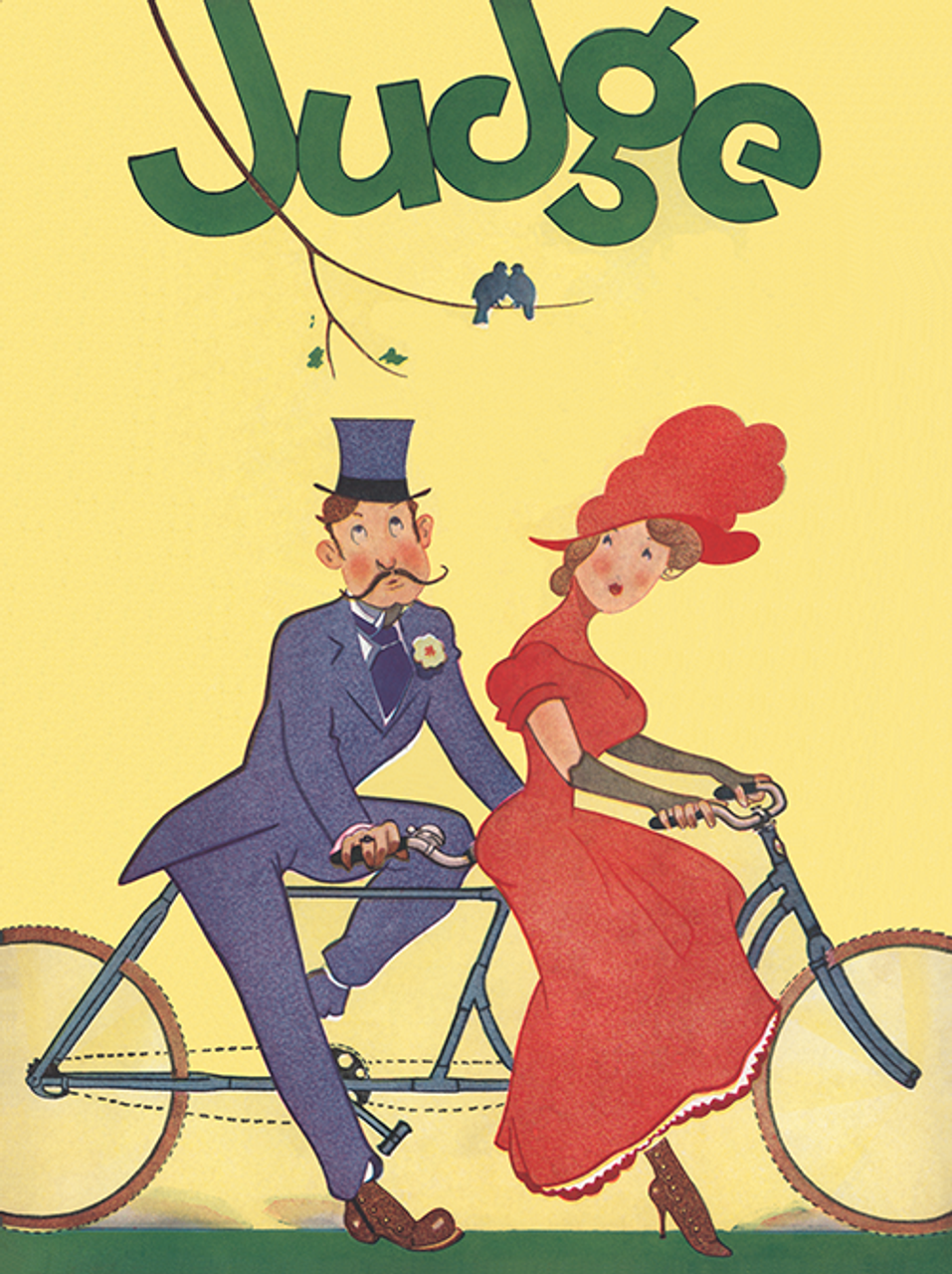 Judge Tandem Bicycle Poster