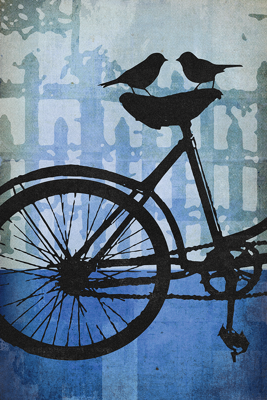 Tandem Amore Left Bicycle Poster by John Evans