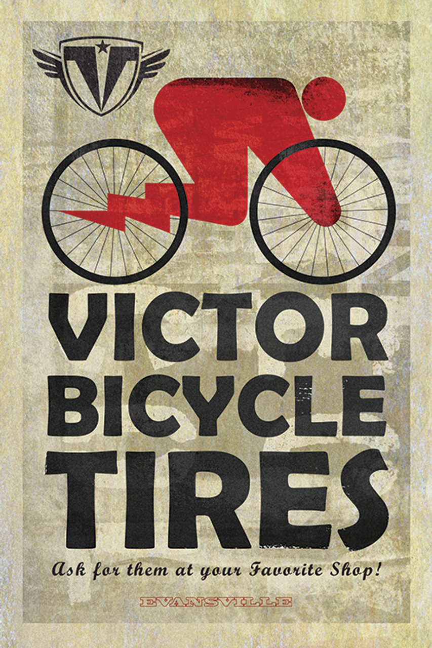 Victor Bicycle Tires Poster by John Evans