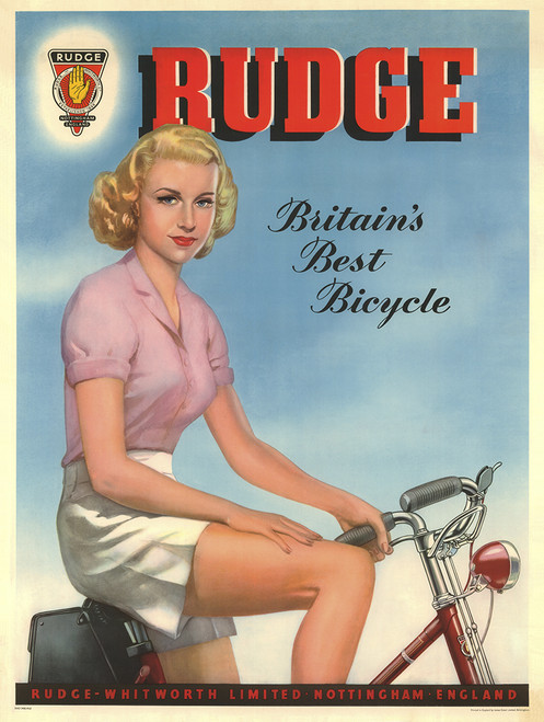 Rudge Pin-up Bicycle Poster