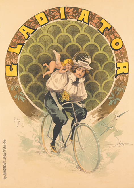 Gladiator Vintage Bicycle Poster by Noury