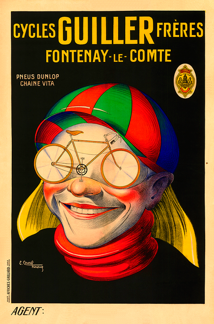 Cycles Guiller Freres Bicycle Poster by E Courchinoux