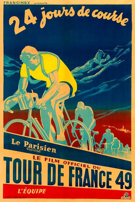 1949 Tour De France Bicycle Poster