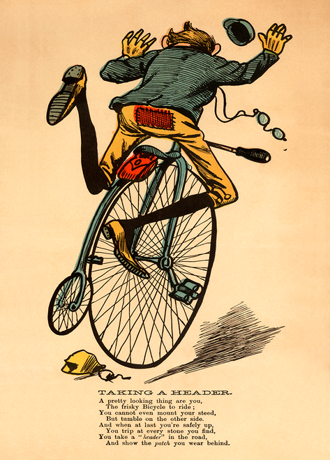 Taking a Header Bicycle Poster