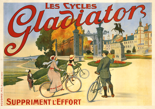 Les Cycles Gladiator Poster