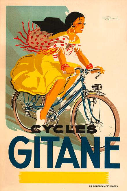 Cycles Gitane Vintage Bicycle Poster