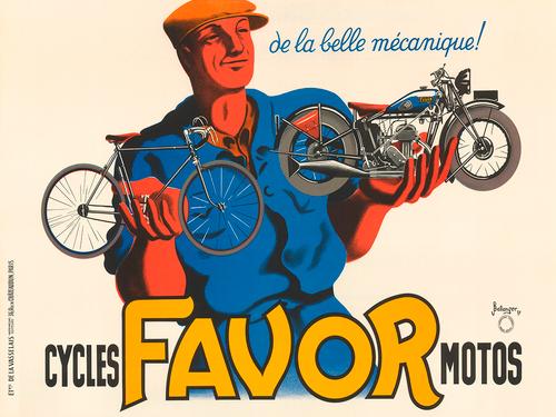 Favor Art Deco Vintage Bicycle Poster