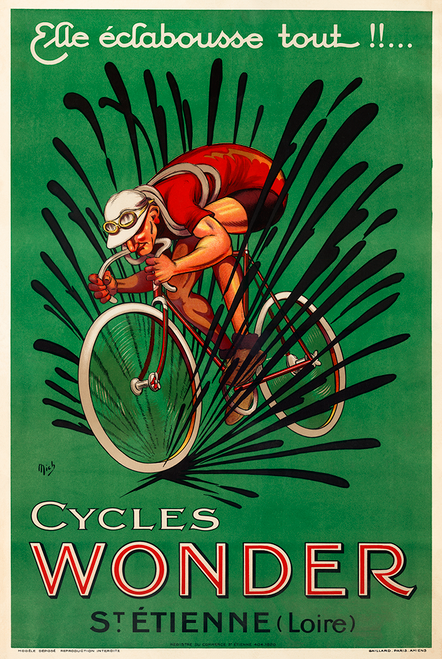 Cycles Wonder French Bicycle Poster by MICH