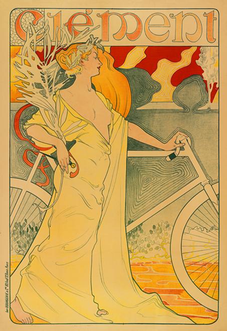 Clement Art Nouveau Bicycle Poster