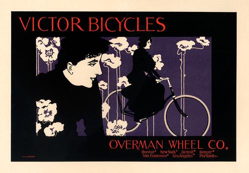 Victor Bicycles Vintage Bicycle Poster by William H Bradley