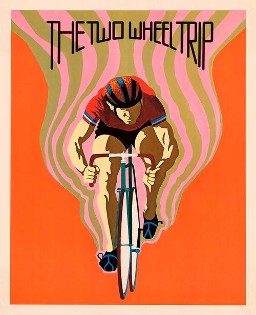 Two Wheel Trip Vintage Bicycle Poster