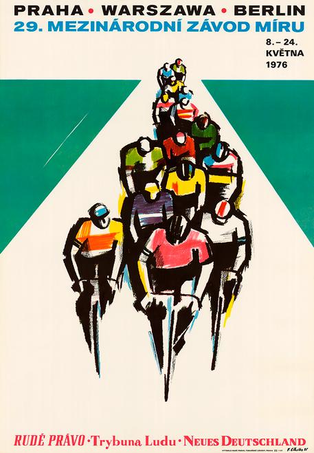 1976 Peace Race - Berlin Prague Warsaw Bicycle Poster