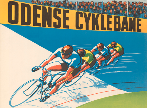 Velodrome Racing Bicycle Poster from Denmark