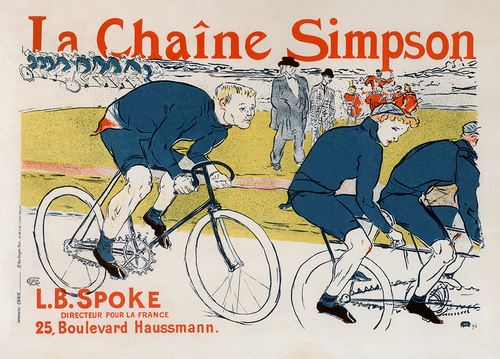 La Chaine Simpson Vintage Bicycle Poster by Henri De Toulouse-Lautrec