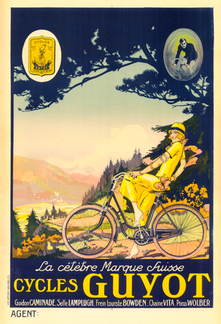 Cycles Guyot Bicycle Poster