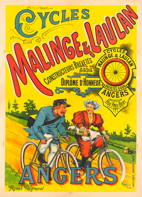 Malinge & Laulan Bicycle Poster