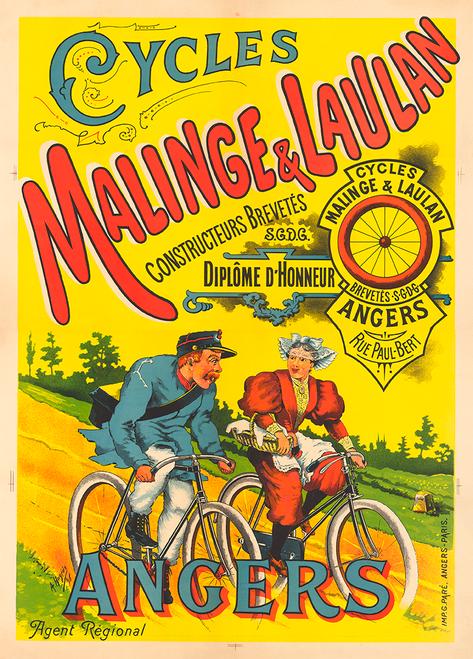 Malinge & Laulan Bicycle Poster