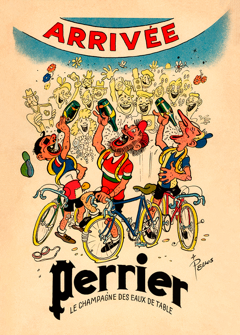 Perrier Tour De France Bicycle Poster