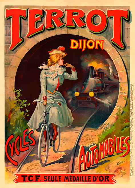 Terrot Dijon Cycles Poster by Francisco Tamango