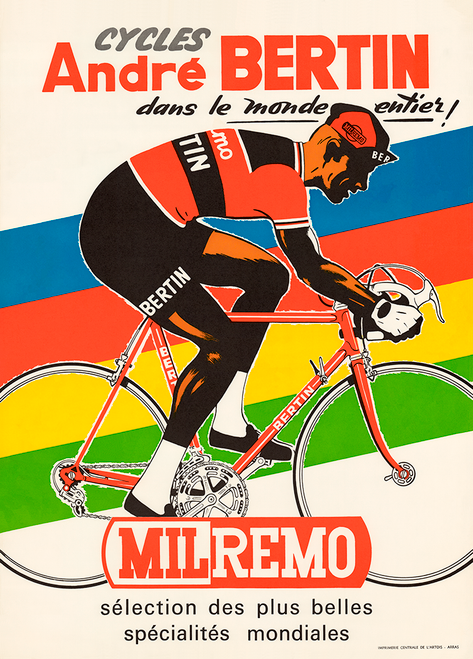 Cycles Andre Bertin Bicycle Poster