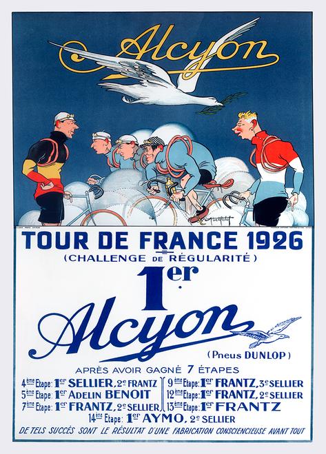 Alcyon Tour de France 1926 Bicycle Poster Print