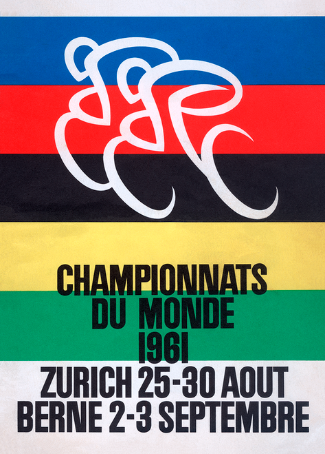 1961 World Cycling Championships Bicycle Poster Print